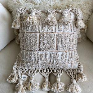 NWT Anthropologie Tasseled Tero Pillow
